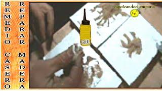 Reparar agujeros o grietas en madera
