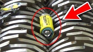 Experiment - Shredding Batteries - The Shredder Show