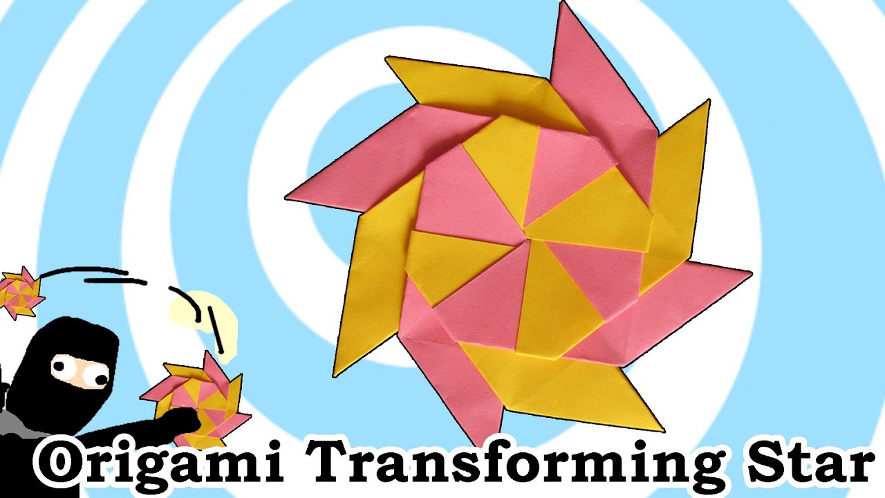 How To Make A Modular Origami Star 8 Points Sword Diagram Http Wwworigamimakecom Easyorigamisword