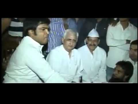 Salman Khurshid Tripping Hard, Threatening Kejriwal! Gunda face of congress!