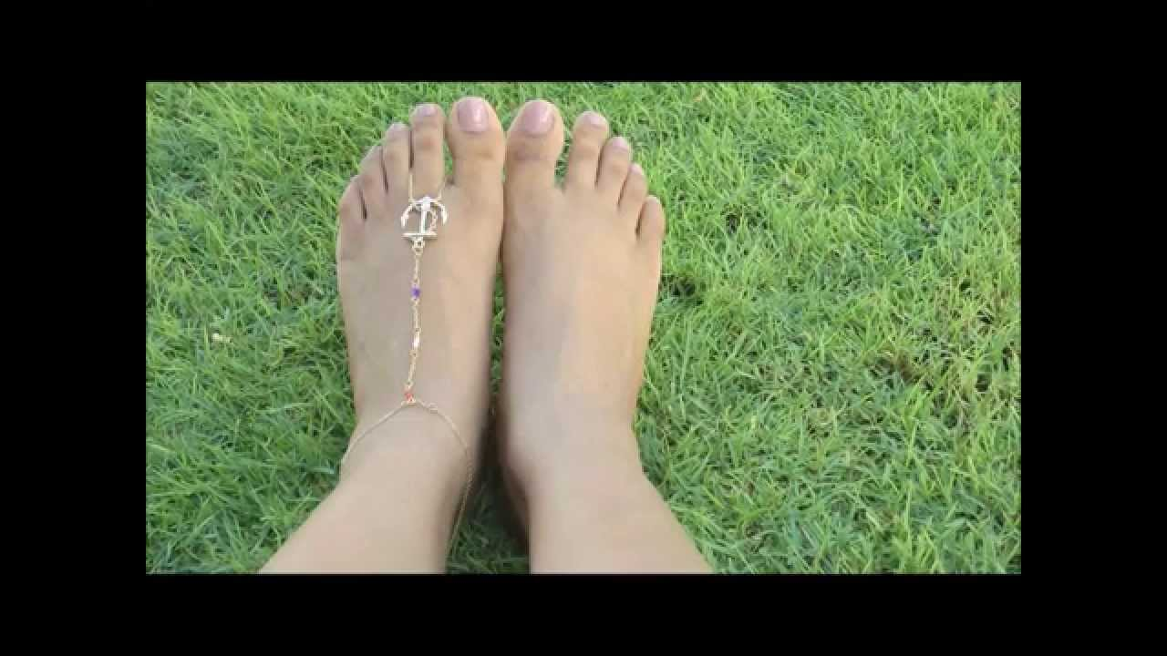 How To D I Y Anchor Foot Thong Bare Foot Sandals I