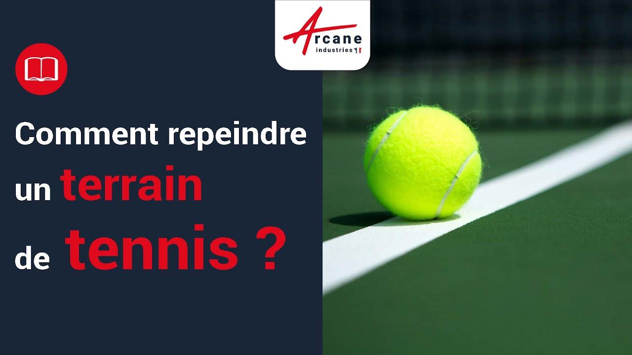 Peinture pour court de tennis Anti dérapant Rénovation