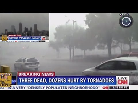 Tornadoes slam Midwest US - Time-lapse tornado touching down [SCARY FOOTAGE] 11/17/2013