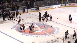 Cops Vs Firefighters In EPIC Hockey Fight