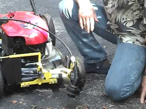 Trimmer And Edger Lawn Mower Attachment Youtube