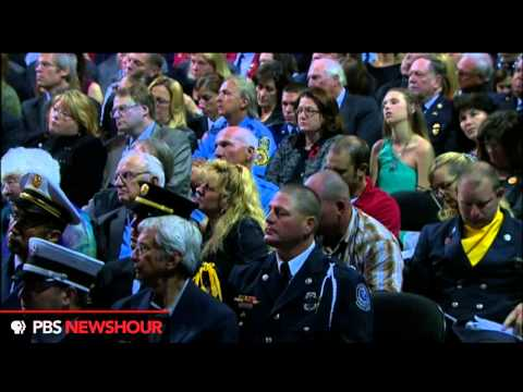 President Obama Speaks at the Memorial for Firefighters in West Texas
