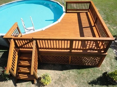 How to build a deck around a pool youtube - How to build a swimming pool out of wood ...