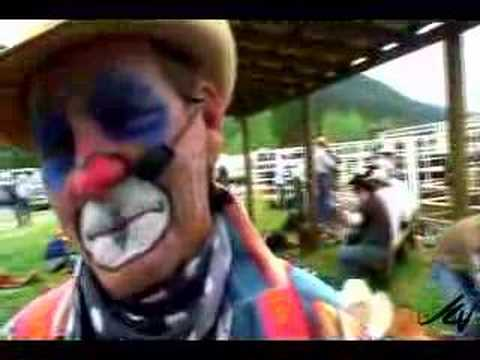 rodeo clowns life = 2 x neck broke and still ticking
