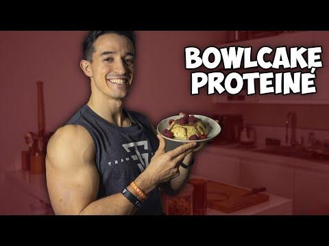 Petit déjeuner faible en sucre et protéiné (bowlcake recette)