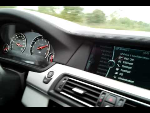 2012 BMW F10 ///M5 High Speed Autobahn Run 300kph/187mph (A62)