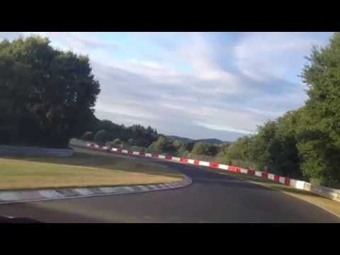 Slow driving on FAST RACE TRACK Nürburgring Germany