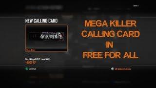 Mega Killer Title Calling Card in FFA