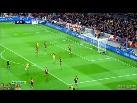 Barcelona vs Atletico Madrid 1-1 Diego Ribas goal vs Barca HD 2014
