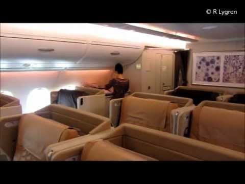 Singapore Airlines A380 800 Business class report, Frankfurt Singapore Tokyo