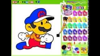 Super Mario De Colorat Jocuri De Desenat