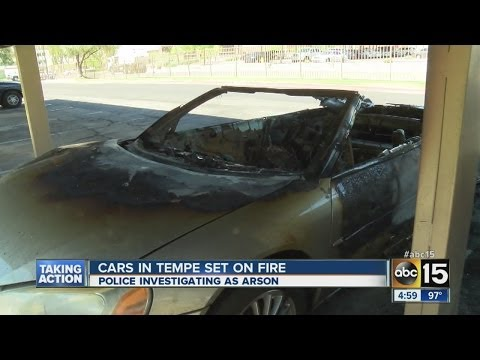 He's definitely not lovin it! Woman 'sets fire to man's car because he
