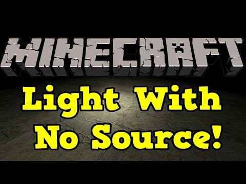 How To Get Light In Minecraft With No Source (Torches, Lamps, Ect) - Minecraft Hidden Light Tutorial