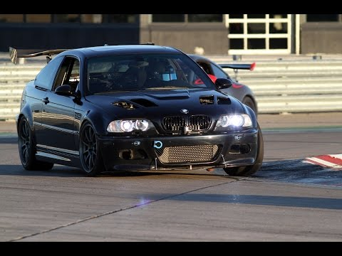 FI Honda Civic Si vs NA BMW E46 M3 on the Race Track