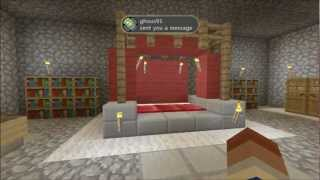 How To Build A Master Bedroom, Part 1 Minecraft Xbox 360