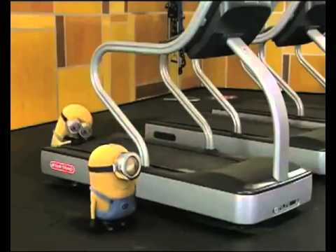Minions in Gym with Banana!