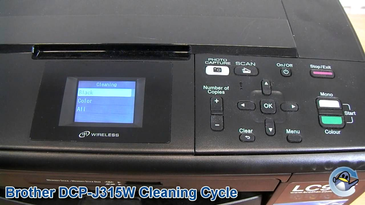 how to clean the ink lines in brother printer