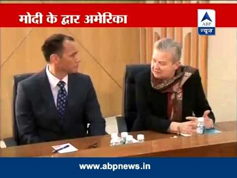 US Ambassador Nancy Powell meets Narendra Modi