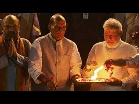 Modi performs Ganga aarti at Dashashwamedh Ghat