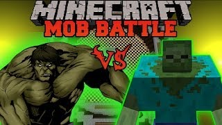 MUTANT ZOMBIE VS HULK Minecraft Mod Battle Mob Battles