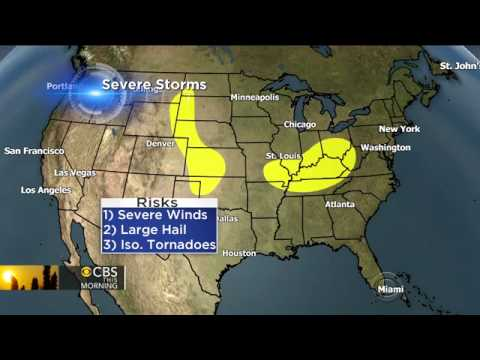 Storm threat: 30 million face risk of rain, hail and tornadoes