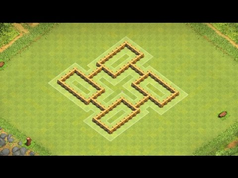 Clash of Clans Town Hall 5 Defense BEST CoC TH5 Hybrid Base Layout Defense Strategy