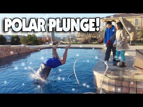 POLAR PLUNGE!!! Dad Jumps Into Freezing Ice Pool!