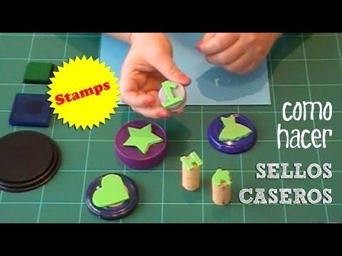 Sellos caseros con letras y otras formas | Manualidades para niños
