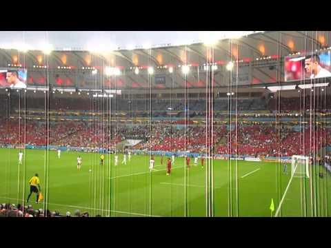 Gol de Charles Aranguiz en el Maracana . Chile 2 - España 0