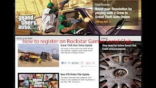 How To Register On Rockstar Games Social Club