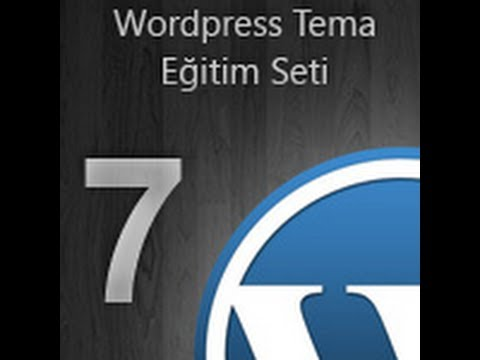 WordPress Tema Eğitim Seti -- 07- Search,tag,author,archive,category.php