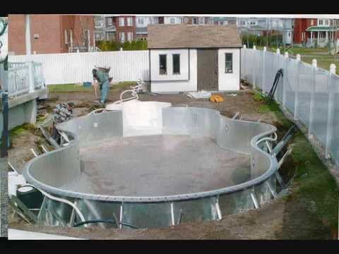 Installation de piscine creus e youtube for Installation piscine creusee