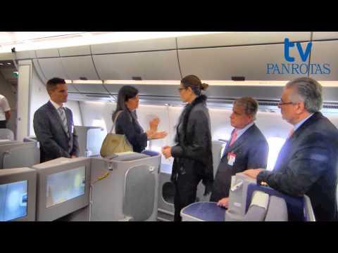 Conheça o interior do A350 em vídeo exclusivo
