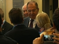 Raw: Top Russian Diplomats at Summit in Alaska