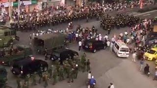 Hàng ngàn Công An, Cảnh sát 113, CSCĐ được huy động chiều nay để khống chế biểu tình đòi thả người