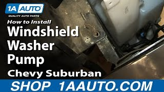 How To Install Replace Windshield Washer Pump 2000-06
