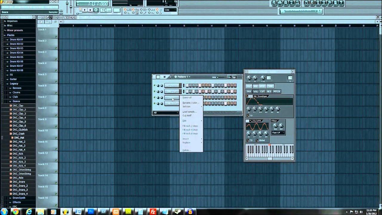FL Studio 10 Beginner Tutorial (Starting from Nothing) HD [PART 1] - YouTube
