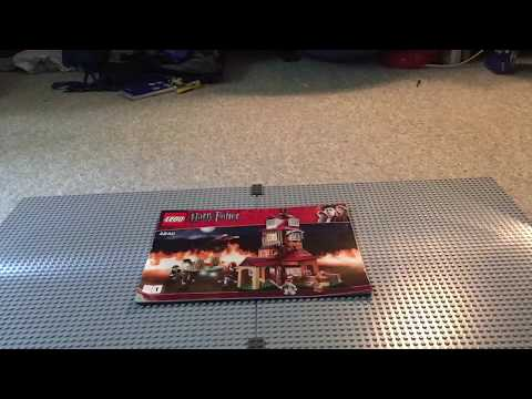 Lego Harry Potter the burrow #4840 time-lapse build