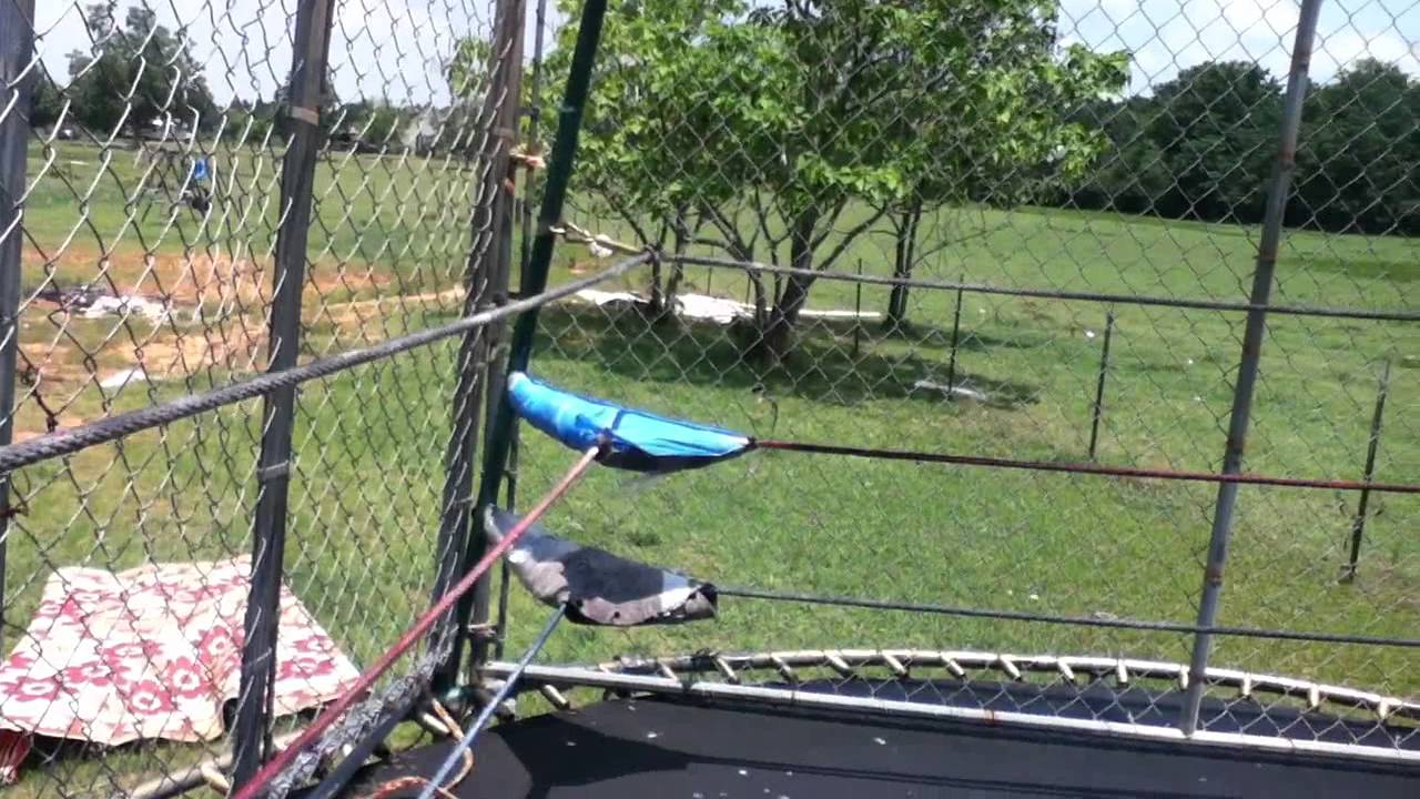 how to make a trampoline wrestling ring and steel cage youtube