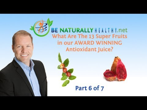 Award Winning Antioxidant Juice: Health Benefits Of The 13 Super Fruits Part 6 of 7