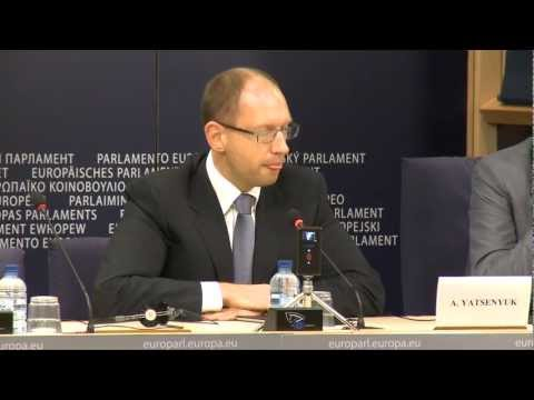 [Broadcast HD] Guy Verhofstadt receives Ukrainian opposition leader Arseniy Yatsenyuk