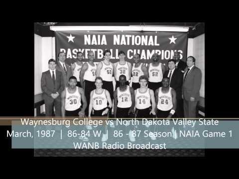 Waynesburg College vs North Dakota Valley City (March 1987)