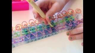How To Make A Double Rainbow Loom Bracelet (6 Rows!)