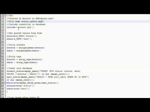 jQuery Tutorial (FaceBook styled status update or wall part2)