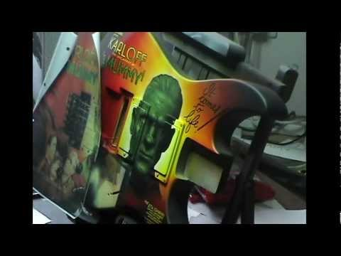 Metallica Kirk Hammett Mummy custom airbrushed guitar