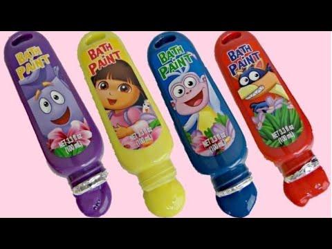 Disney Jr. DORA THE EXPLORER Bath Time Paint, Learn Colors, Skye, Sofia,Minnie Mickey Mouse / TUYC